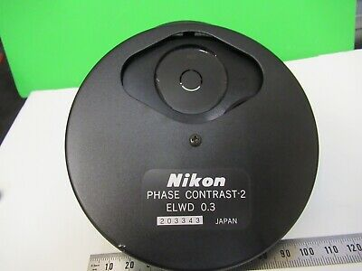 Nikon Phase Contrast -2 Elwd 0.3 Condenser Microscope Part As Pictured &15-A-52