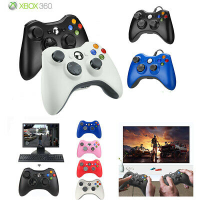 Wireless/Wired USB Controller Gamepad for Microsoft Xbox 360 360 Slim &PC