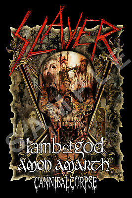 SLAYER 12x18 THE FINAL TOUR POSTER 2019 LAMB OF GOD AMON AMARTH CANNIBAL CORPSE