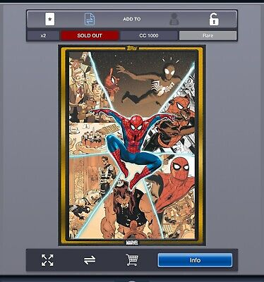 2019 COMIC BOOK DAY GOLD AMAZING SPIDER-MAN #1 Topps Marvel Collect Digital