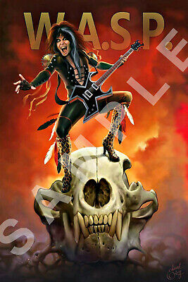 W.A.S.P. BAND 12x18 BLACKIE LAWLESS POSTER WORLD TOUR 2020 LIVE CONCERT 3