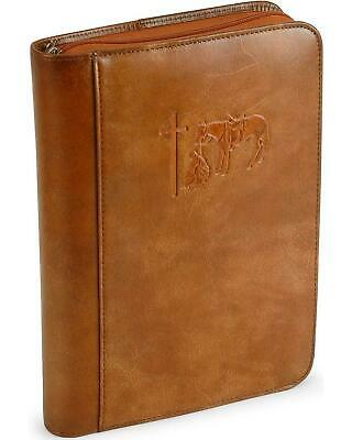 Cowboy Prayer Leather Bible Cover Brown