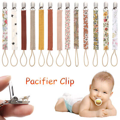 Printing Anti-fall Nipple Clips Soother Holder Pacifiers Chain Pacifier Clip