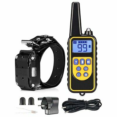 Pet Dog Waterproof Training Collar Rechargeable LCD Electric Shock Remote 800m