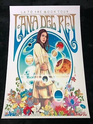 LANA DEL REY 12x18 LA TO THE MOON TOUR POSTER LIVE CONCERT NORMAN FKN ROCKWELL!