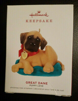 2019 Hallmark Keepsake Ornament GREAT DANE - PUPPY LOVE - 29th in Series - NEW