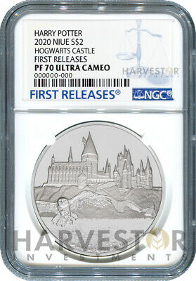 2020 Harry Potter - Hogwarts Castle - 1 Oz. Silver Coin - Ngc Pf70 First Release