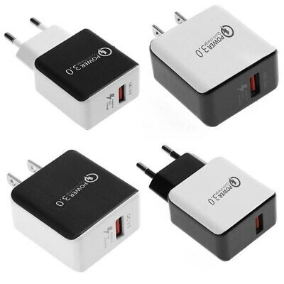 Quick Charge 3.0 USB 5V 3A Phone Wall Home Travel Fast Charger Adapter Charm xkj