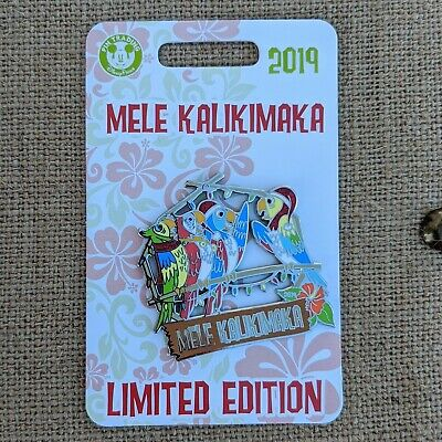 Mele Kalikimaka Tiki Room Birds Pin 2019 Disney Parks Christmas Holidays LE 4000