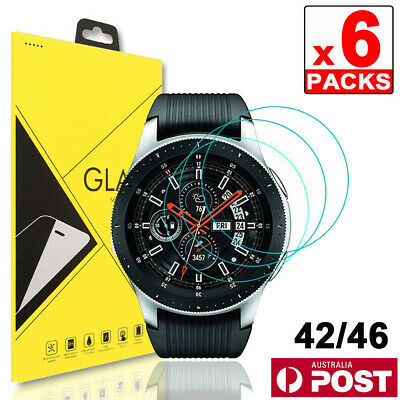 6x Samsung Galaxy Watch 42mm / 46mm Tempered Glass Screen Protector
