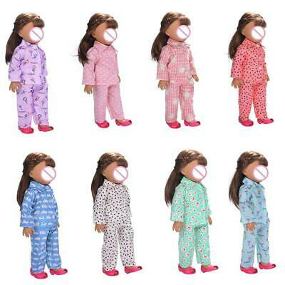 Cute Pajamas Nightgown Clothes Set for 18 inch Our Generation Doll
