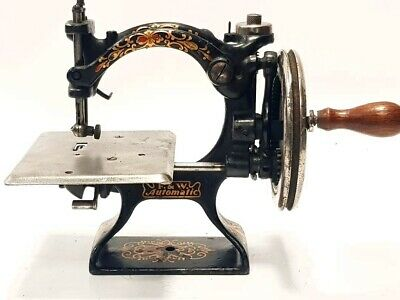 Antigua Maquina de coser AUTOMATIC  folley williams antique sewing machine USA