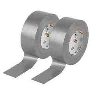 Silver strong Gaffa black cloth tape size 50mm X 50M