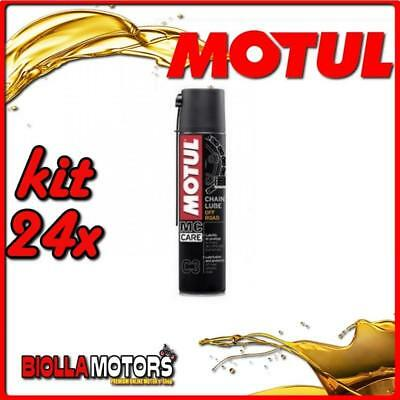 KIT 24X 400ML SPRAY PER CATENE MOTUL C3 CHAIN LUBE OFF ROAD 400ML - 24x 102982