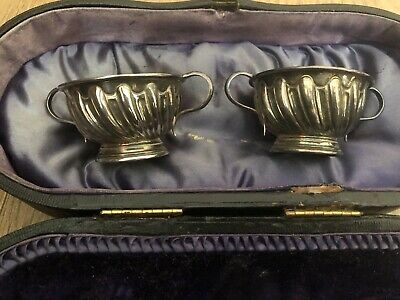 Vintage Silver Plated Table Salt Bowls Harrison Brothers & Howson