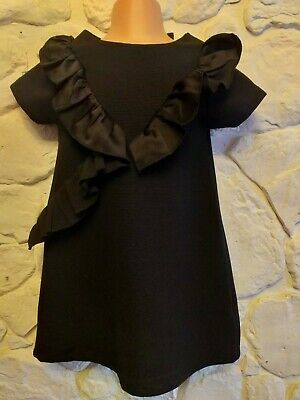 NEXT Girls age 4 years black party formal dress.  Hardly worn & FAST POSTAGE