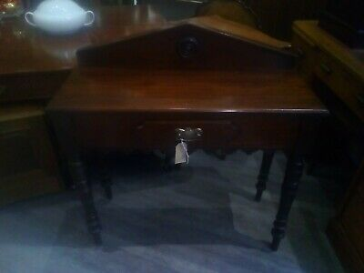 Antique Mahogany Hall Console Table With Drawer