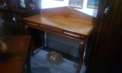 Antique Oak Dressing Table With Drawer