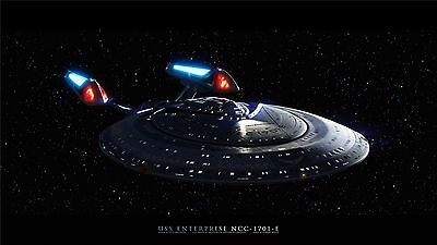 """Star Trek Outer Space Movie Game Art Fabric Wall Poster 17/""""x13/""""  006"""