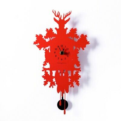 MIGNON red Small wall clock with pendulum