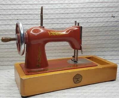 Exclusive USSR heavy metal toy child miniature SEWING MACHINE 1990