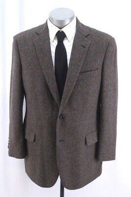 herringbone BROOKS BROTHERS 1818 Madison blazer jacket tweed sport coat 43 R