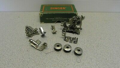Vintage Singer Samanco Sewing Machine Attachments & Box