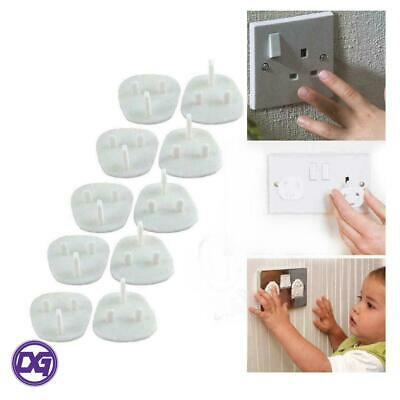 10 Task Mains Electrical Plug Covers Socket Protectors Child Safety Baby Proof