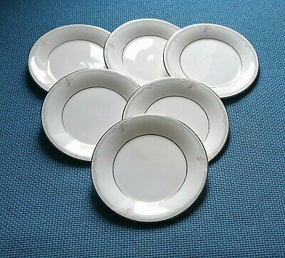 "Royal Doulton *Carnation* Six 6.6"" Side Plates #Excellent  Used#"