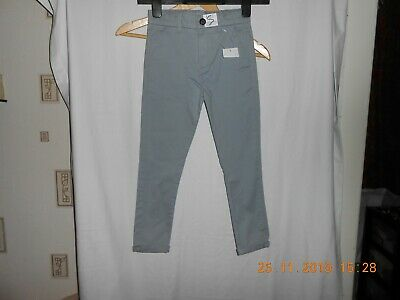 M&S Boys Skinny Leg Grey Chino Adjustable waist Age 6-7 Yrs BNWT