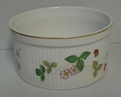 """Wedgwood WILD STRAWBERRY Souffle Dish (7-1/2"""") More Items Available"""
