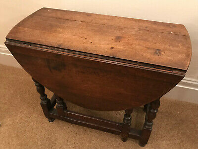 Lovely Late 17th Century Solid Oak Gate Leg Table