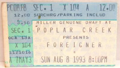 Foreigner At Poplar Creek Used Concert Ticket ~156