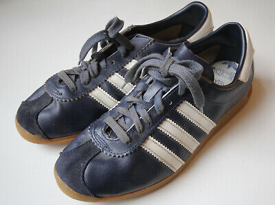 Vintage Adidas Stadion Made Roumania 250 mm EUR 40.5 UK 6.5 US 7.5 Sneaker Blue