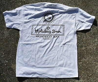Vintage Holiday Inn Montego Bay Jamaica Club Martinelli T Shirt Size XL