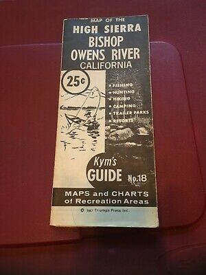 Vintage Map ; 1967 Kym's Guide Modoc County Recreation Area CA