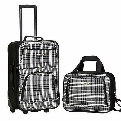 Carry-On Luggage Set Blackcross 2 Piece Travel Skate Wheels Rolling Luggage