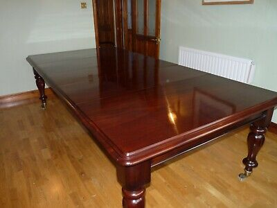AMAZING 1831-1901 Victorian Cuban mahogany dining table Christmas