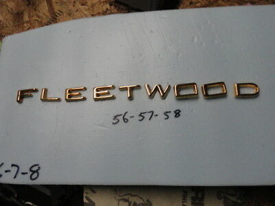 Cadillac 1958 Fleetwood 18K Gold Plated Trunk Letters