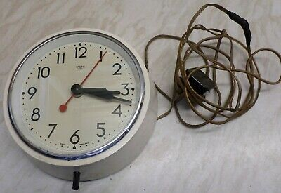Vintage SMITH SECTRIC Synchronous Electric Wall Clock (Working) Made In England