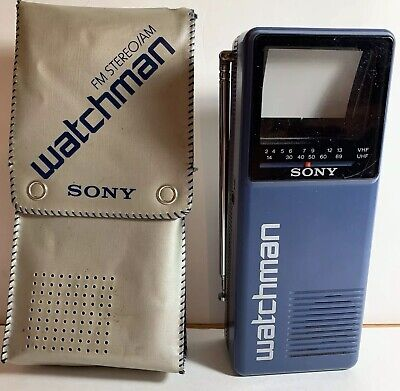 Sony Watchman FD 10A 1987 Vintage Portable TV VHS UHF