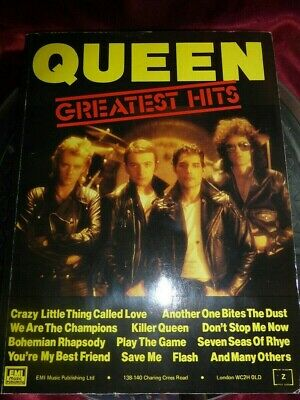 QUEEN Greatest Hits BOOK Words & Sheet Music to 17 Classics 1981 EMI *FREE P&P*