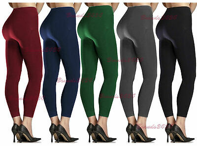 New Women's Ladies Stretch Thick Winter Warm Thermal Fleece Lined Legging 8-18