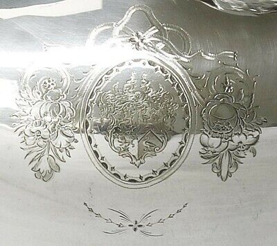 Superb Silver Plated Meat Dome with Ornate Handle C 1855