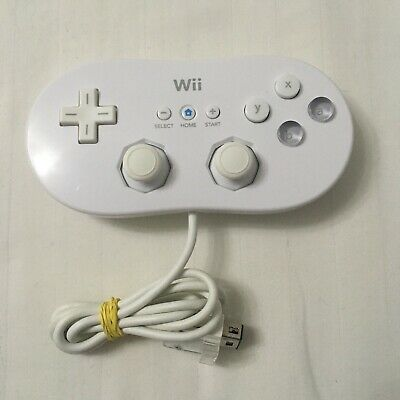 OFFICIAL NINTENDO WII / WII U CLASSIC CONTROLLER Joypad Game Pad White