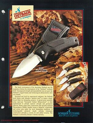 """Schrade USA SG8DP """"Australian Outback"""" Knife with Sheath Box and Papers"""