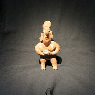 300BCE-200 CE Nayarit Pre-Columbian figure terracotta Mexico