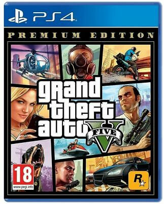 Gta 5 Premium Limitierte Auflage PS4 Grand Theft Auto V PLAYSTATION 4 Eng Neu Eu