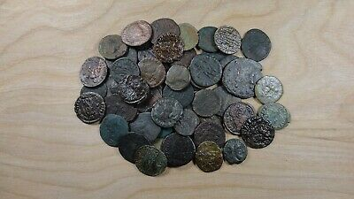 Group Lot of 50X Late Roman Imperial AE Coins Different Rulers and Reverses G102
