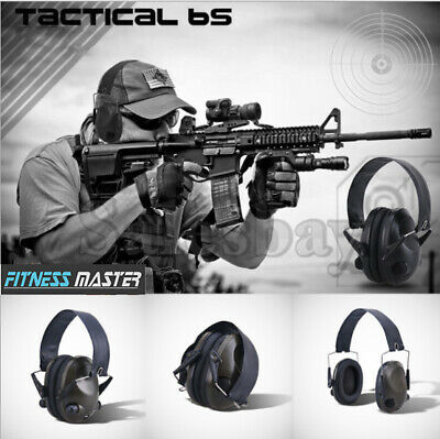 GREEN Shooting Hunting Electronic Noise Reduction Earmuffs Input Jack Ear Muffs